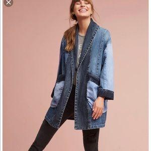 Anthropologie Oversized Pilcro Denim Jacket